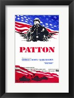 Framed Patton - red, white, blue