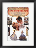 Framed Gone with the Wind Vintage Poster