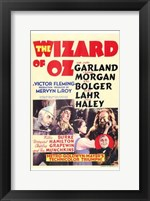 Framed Wizard of Oz Garland Morgan Bolger Lanr Haley