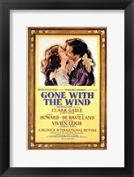 Framed Gone with the Wind Framed Kissing Movie Advetisement