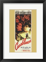 Framed Casablanca Vertical Movie Cast
