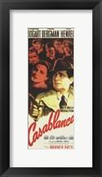 Framed Casablanca Vertical Movie Cast