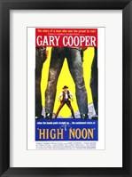 Framed High Noon Gary Cooper