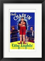 Framed City Lights - Charlie Chaplin