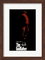 Framed Godfather Red Profile With Boarder