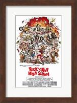 Framed Rock N Roll High School