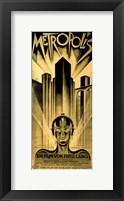 Framed Metropolis Gold