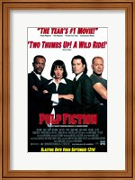 Framed Pulp Fiction B&W Cast