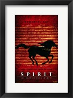 Framed Spirit: Stallion of the Cimarron - red