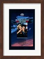 Framed Top Gun Fighter Jet & Tom Cruise