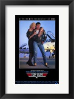 Framed Top Gun Tom Cruise