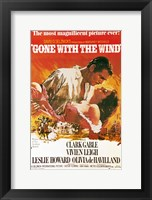 Framed Gone with the Wind movie poster