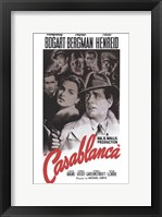 Framed Casablanca Black and Red