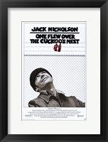 Framed One Flew Over the Cuckoo's Nest Black and White