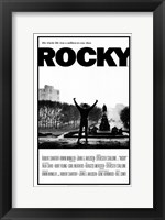 Framed Rocky Black and White