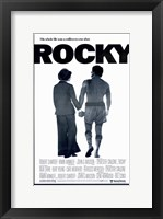 Framed Rocky Silhouette His Whole Life