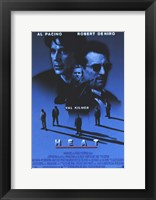 Framed Heat Kilmer Pacino & De Niro