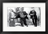 Framed Butch Cassidy and the Sundance Kid B&W Screen Shot