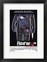 Framed Friday the 13th - Jason Silhouette Campsite