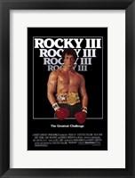 Framed Rocky 3 Sylvester Stallone