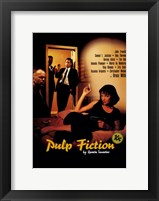Framed Pulp Fiction Cast