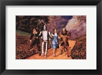 Framed Wizard of Oz - Skipping on Yellow Brick Road