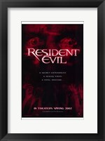 Framed Resident Evil - red