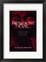 Framed Resident Evil - red