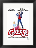 Framed Grease John Travolta Olivia Newton-John