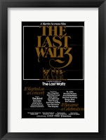 Framed Last Waltz By Martin Scorsese