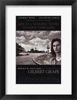 Framed What's Eating Gilbert Grape - black and white