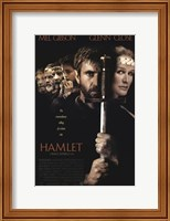 Framed Hamlet with a sword