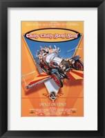 Framed Chitty Chitty Bang Bang - flying car
