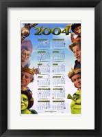 Framed Shrek 2 Calendar 2004
