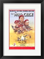 Framed Wild Geese (movie poster)