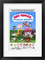 Framed Bon Voyage Charlie Brown