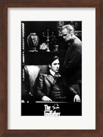 Framed Godfather B&W Scene