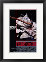 Framed Friday the 13th Sean Cunningham
