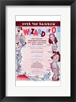 Framed Wizard of Oz Over the Rainbow