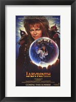Framed Labyrinth - crystal ball