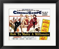 Framed How to Marry a Millionaire, c.1953 - style A