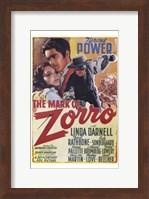 Framed Mark of Zorro Linda Darnell