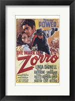 Framed Mark of Zorro Linda Darnell