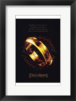 Framed Lord of the Rings: the Two Towers Ring