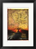 Framed Lord of the Rings: the Two Towers Map