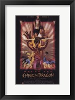 Framed Enter the Dragon Faded