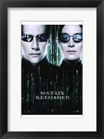 Framed Matrix Reloaded Neo and Trinity