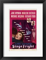 Framed Stage Fright Jane Wyman