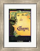 Framed Chinatown Art Deco Film Poster