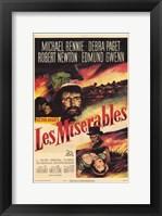 Framed Les Miserables Michael Rennie